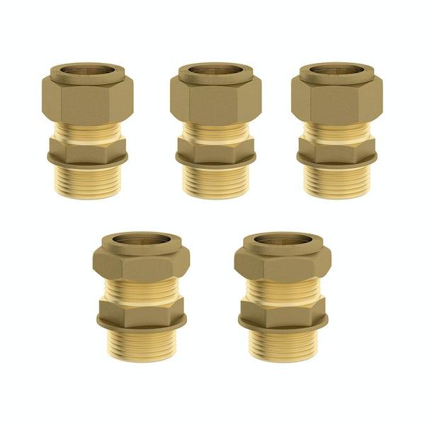 Triple valve straight male connectors pack