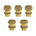Triple valve straight male connectors pack