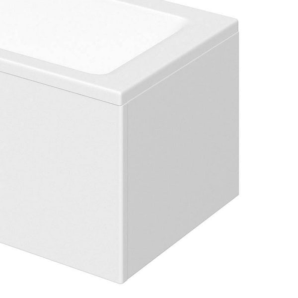 Orchard Vermont bathroom suite with left handed L shaped shower bath 1700 x 850