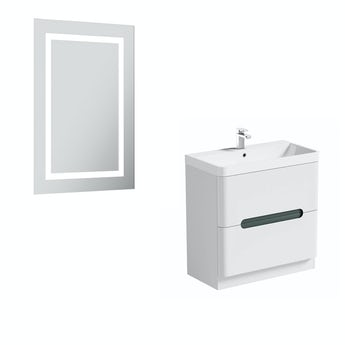 Mode Ellis select slate 800 vanity unit and mirror offer