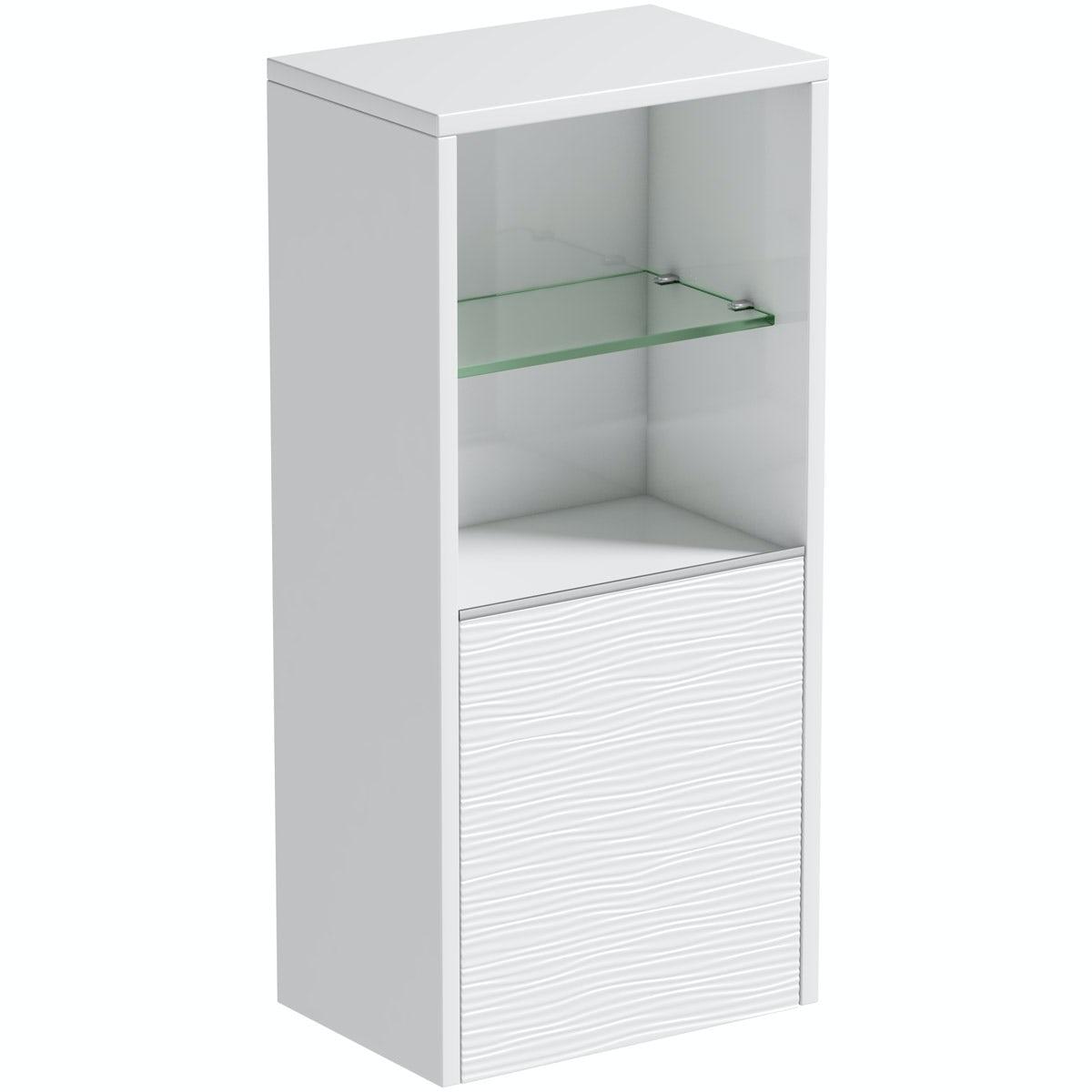 Mode Banks matt white wall storage unit 330mm