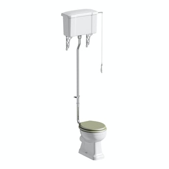 The Bath Co. Camberley high level toilet inc sage soft close seat with pan connector