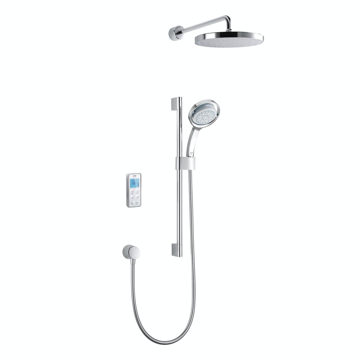 Mira Vision dual rear fed digital shower pumped