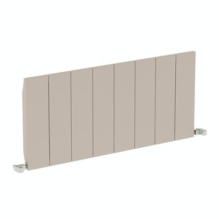 Neo oyster grey horizontal radiator 545 x 1200