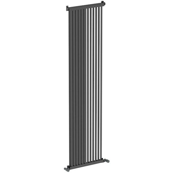 Zephyra anthracite vertical radiator 1800 x 468