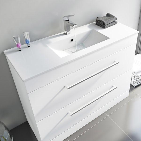 Orchard Derwent white vanity unit 900mm with mirror