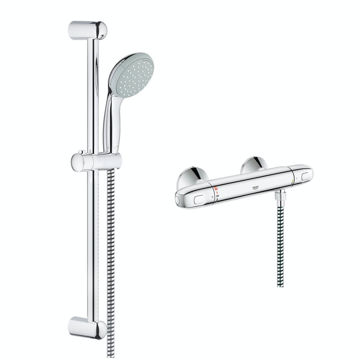grohe grohtherm 1000 thermostatic shower set. Black Bedroom Furniture Sets. Home Design Ideas
