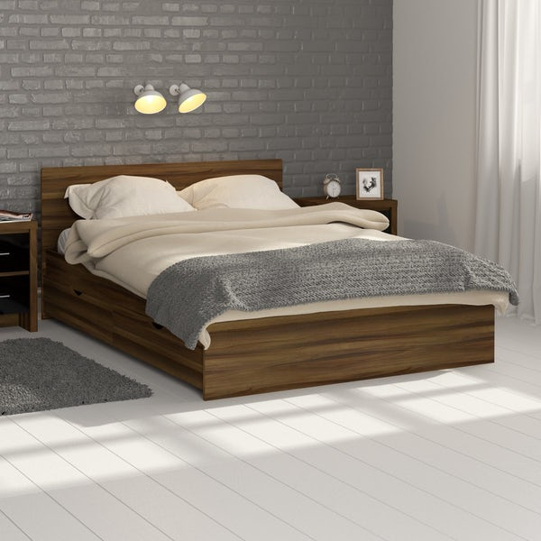 London Walnut King Size Bed