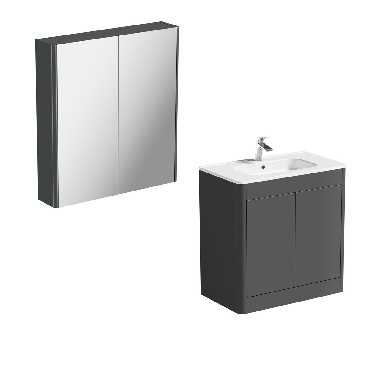 Mode Carter slate vanity unit 800mm and mirror