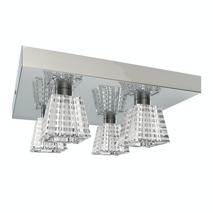 Inti striped 4 light bathroom ceiling light