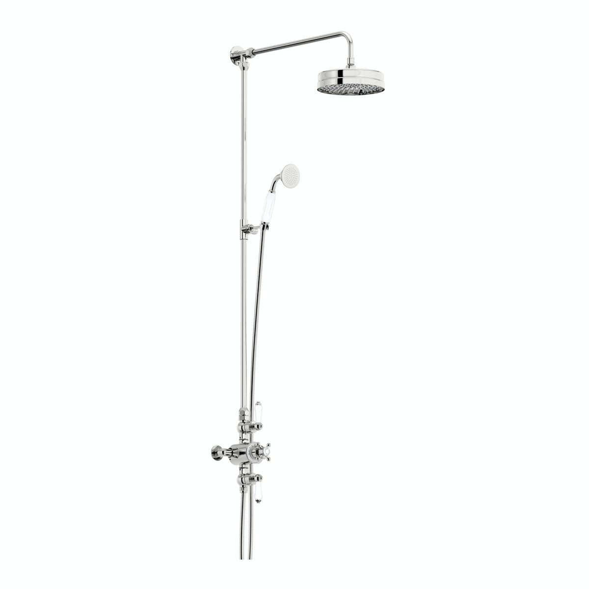 Barrington rain can dual valve riser shower system