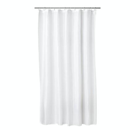 Croydex plain white PVC shower curtain