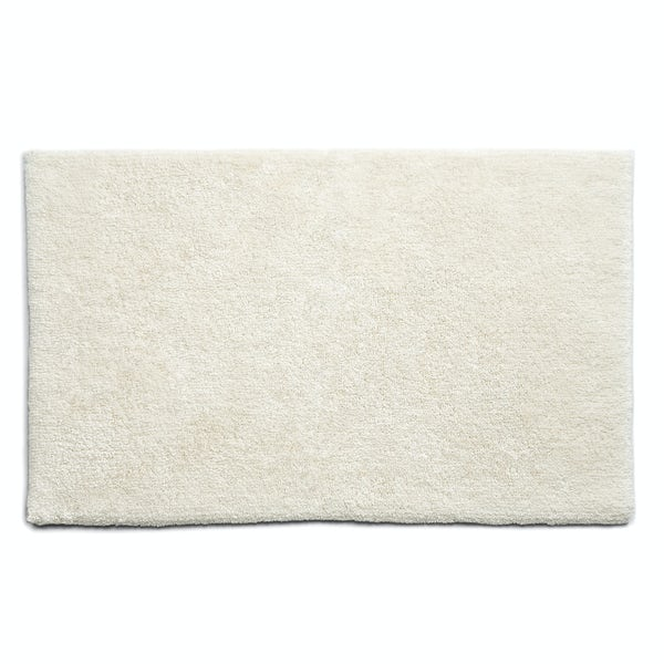 Hug Rug luxury bamboo plain cream bathroom mat 50 x 80cm