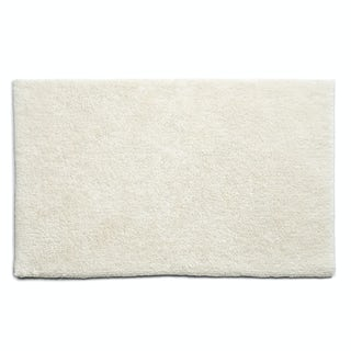 Hug Rug luxury bamboo plain cream bathroom mat 50 x 80cm