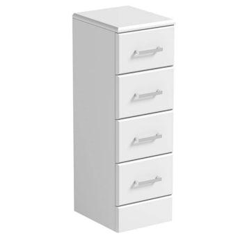 Sienna White Multi Drawer Unit 300