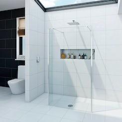 Luxury 8mm wet room glass panel 1100mm