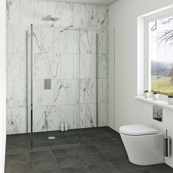 Orchard 8mm wet room 3 sided glass panel pack