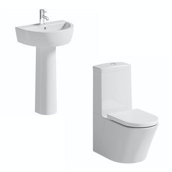 Mode Arte toilet and full pedestal basin suite