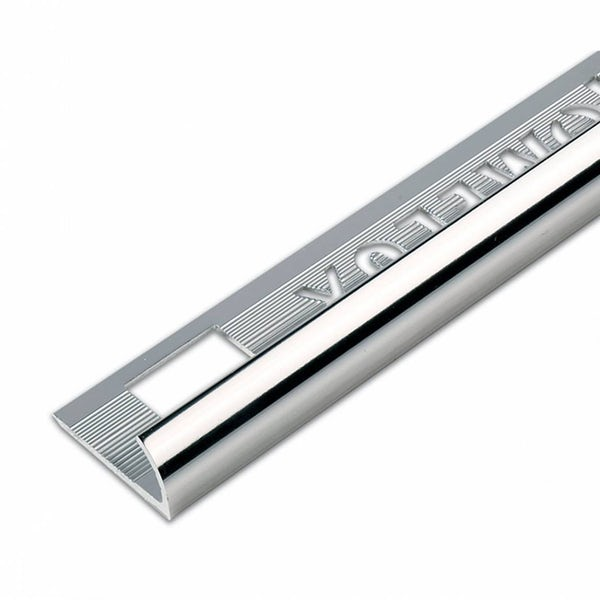 Aluminium Silver Effect Tile Trim 9mm