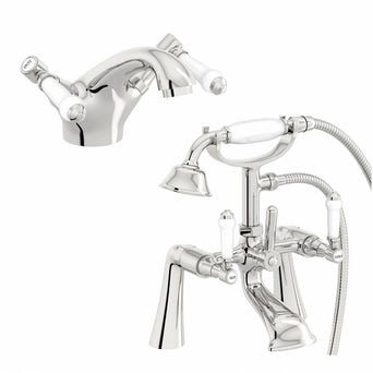 Antonio Basin and Bath Shower Mixer Pack