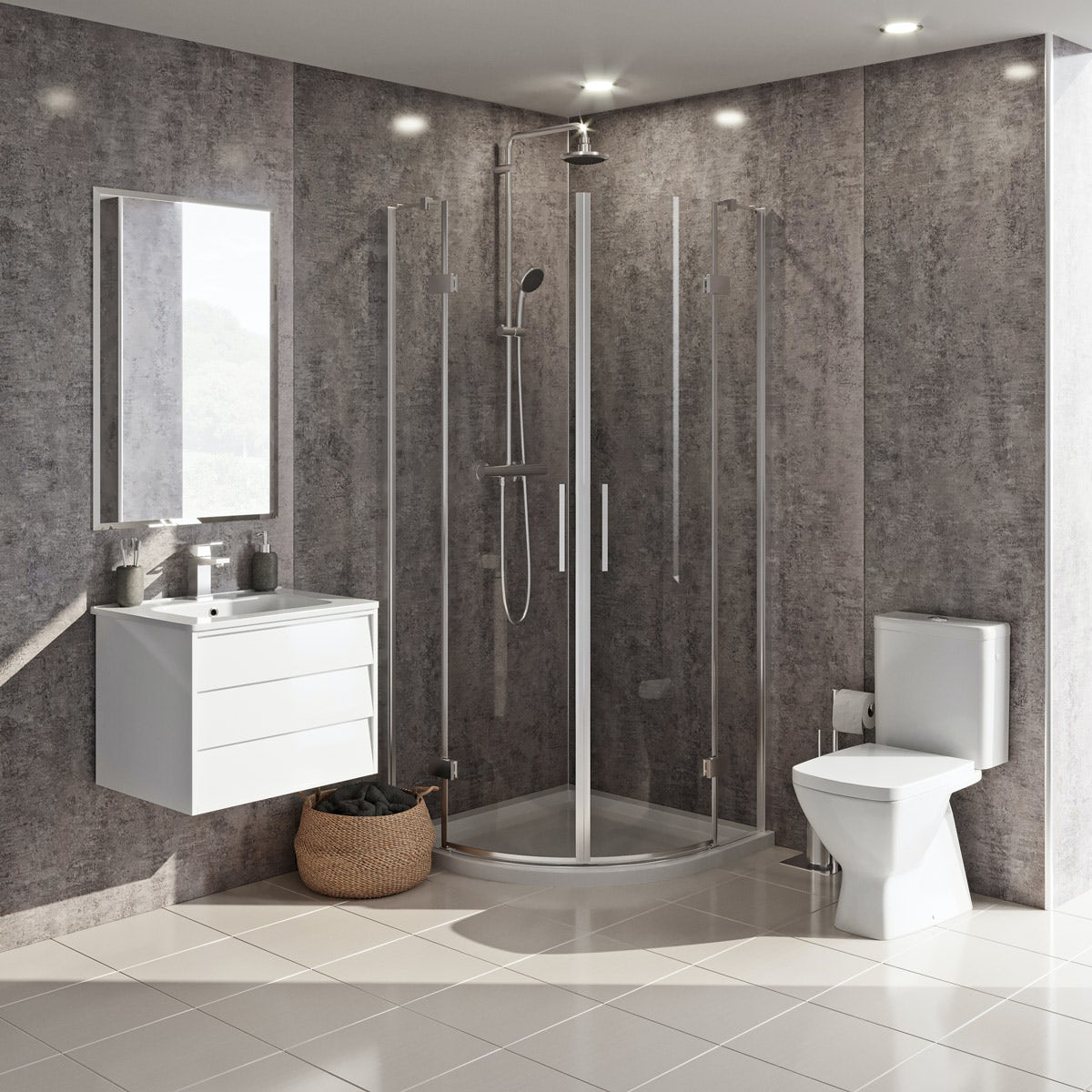 Grohe and Mode Cooper complete shower enclosure suite 900 x 900