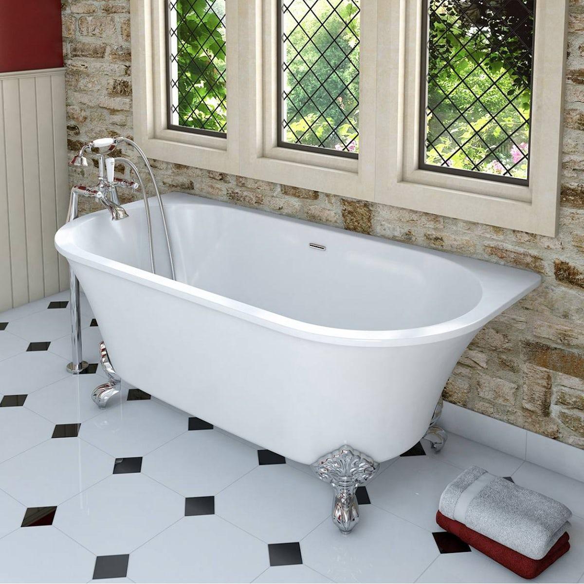 Camberley Back To Wall Bath With Ball Feet Victoriaplum Com