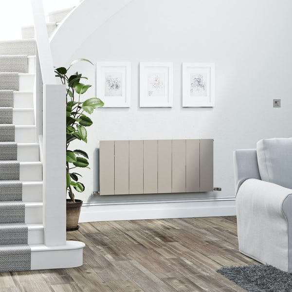 Terma Neo oyster grey horizontal radiator 545 x 1200