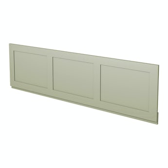 The Bath Co. Camberley sage wooden straight bath front panel 1700mm
