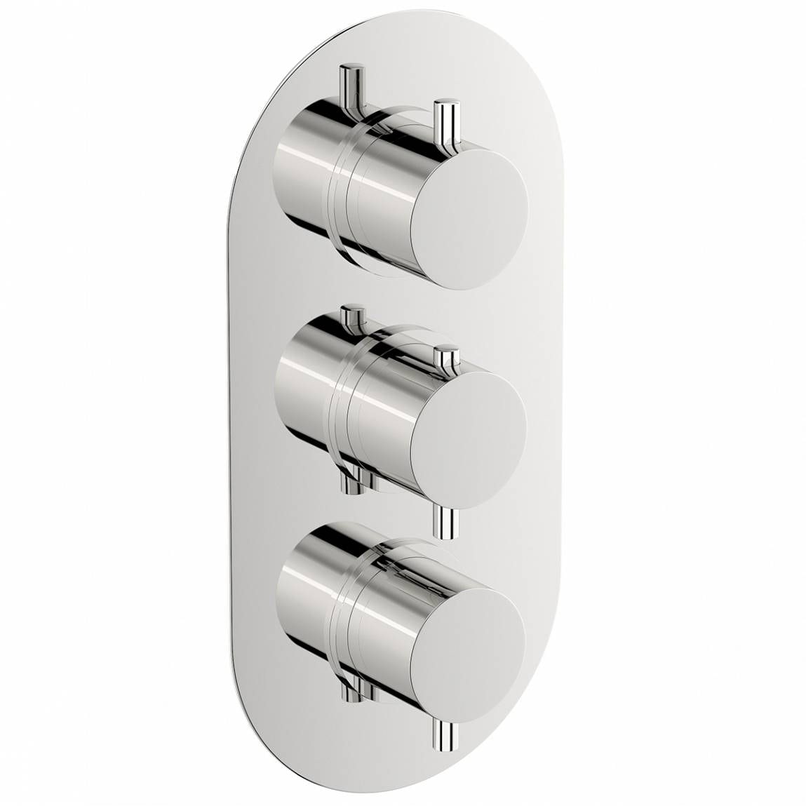 Mode Matrix oval triple thermostatic shower valve with diverter offer pack