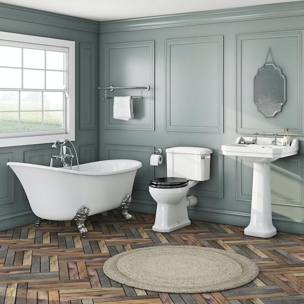 Elegant Elsie bath + Camberley basin 2th + Camberley close coupled black