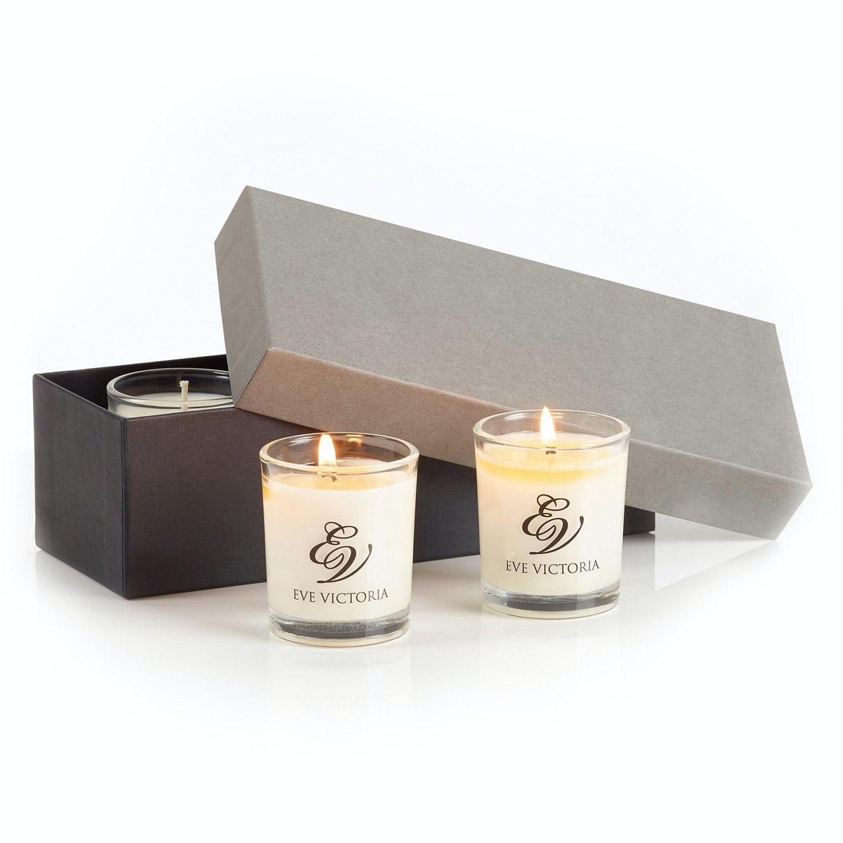 Eve Victoria Neroli, rose & sandalwood 3 Votive gift box 9cl