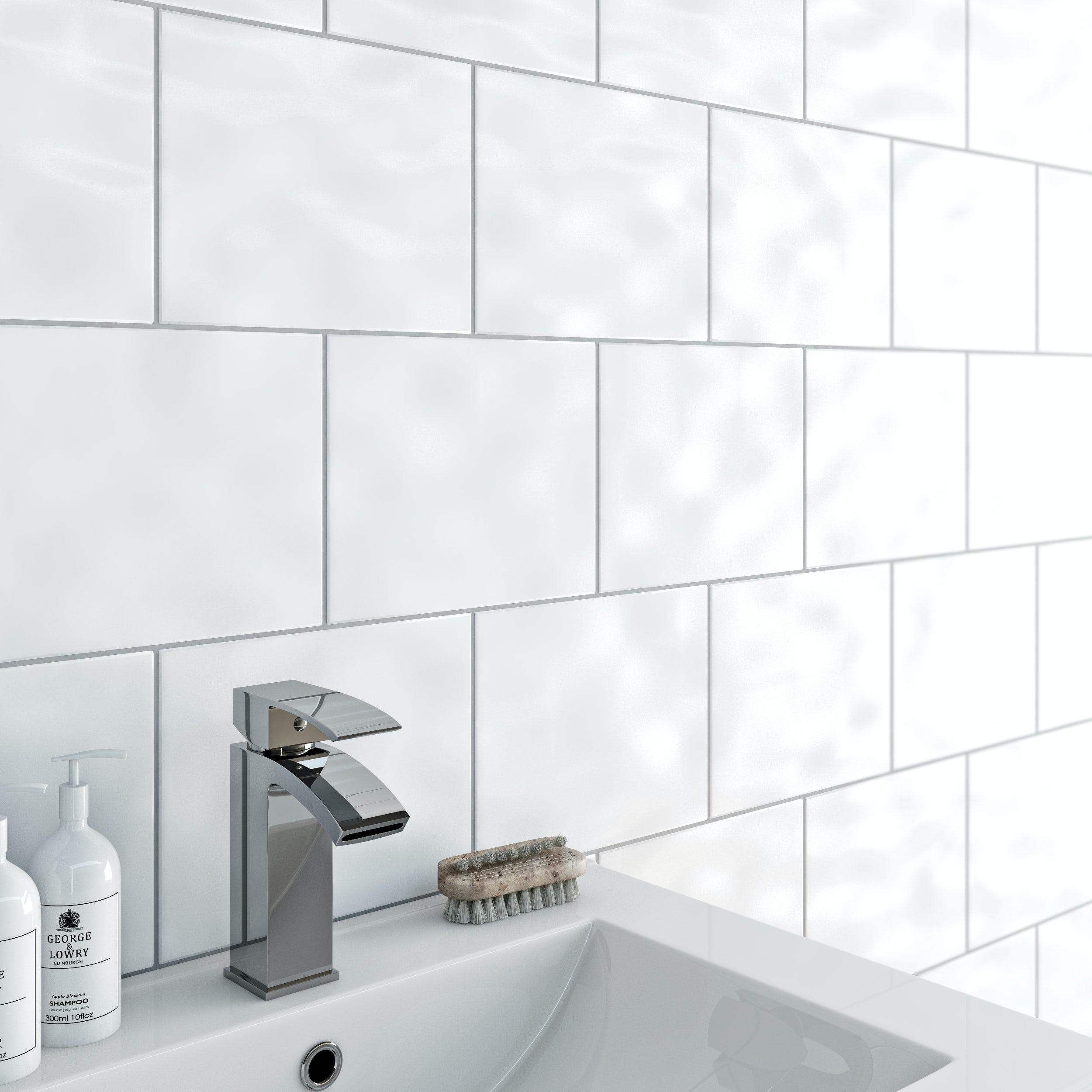 Clarity bumpy white gloss tile 200mm x 250mm