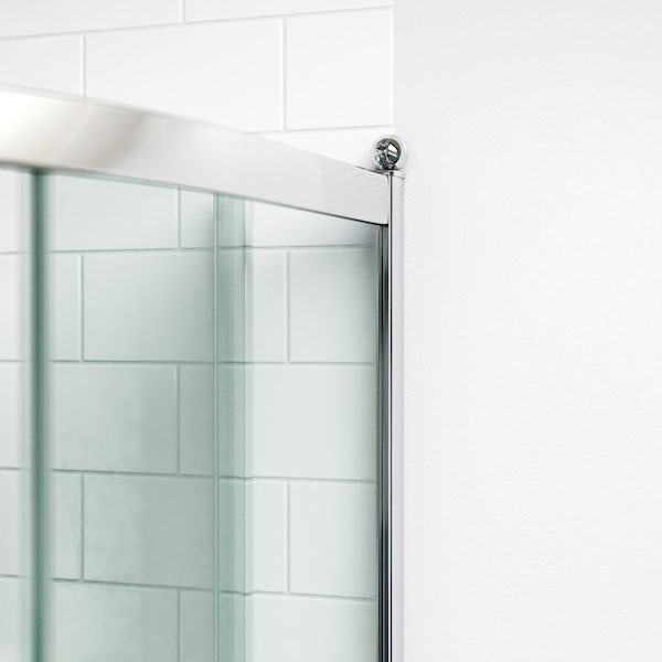 The Bath Co. Winchester traditional one door offset quadrant shower enclosure offer pack