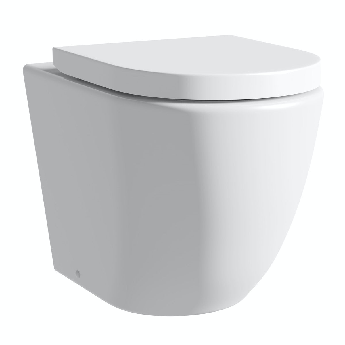 Mode Harrison rimless back to wall toilet with soft close seat