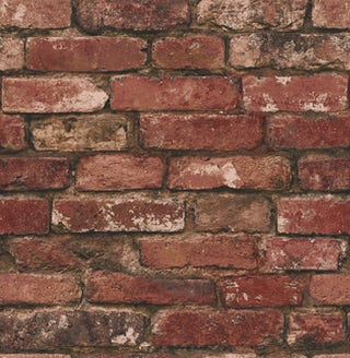 Rustic Brick Sidewall - Red