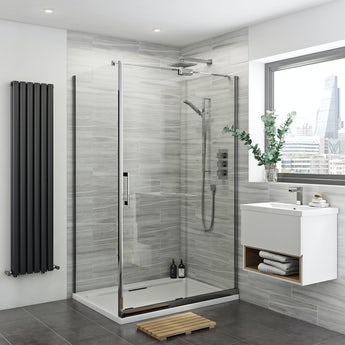 Mode Carter premium 8mm easy clean right handed shower enclosure 1400 x 900