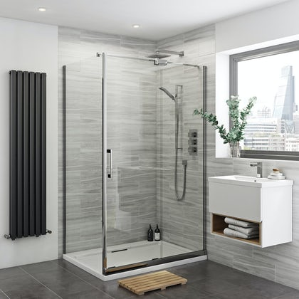 Carter 8mm easy clean right handed sliding shower enclosure