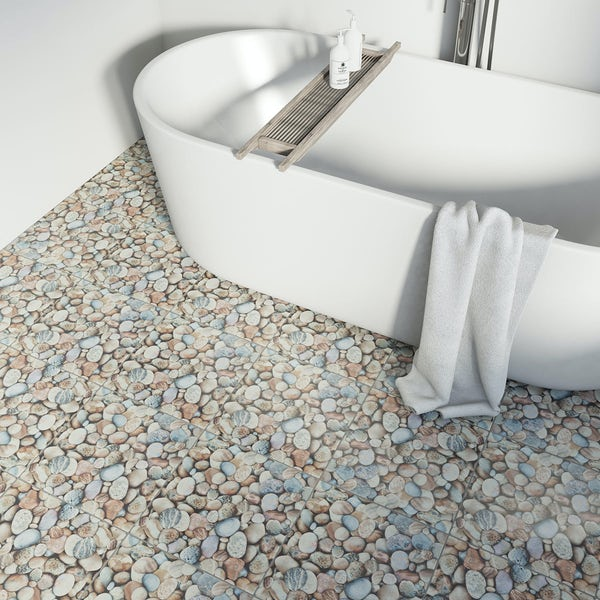 British Ceramic Tile beach feature matt tile 331mm x 331mm