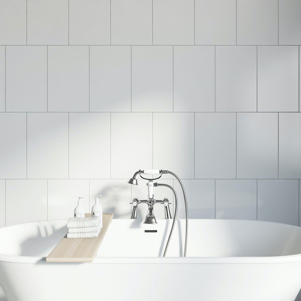 Studio Conran plain white field tile 248mm x 398mm