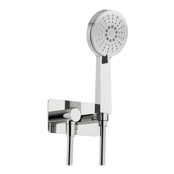 SmarTap black smart shower system with round wall outlet set