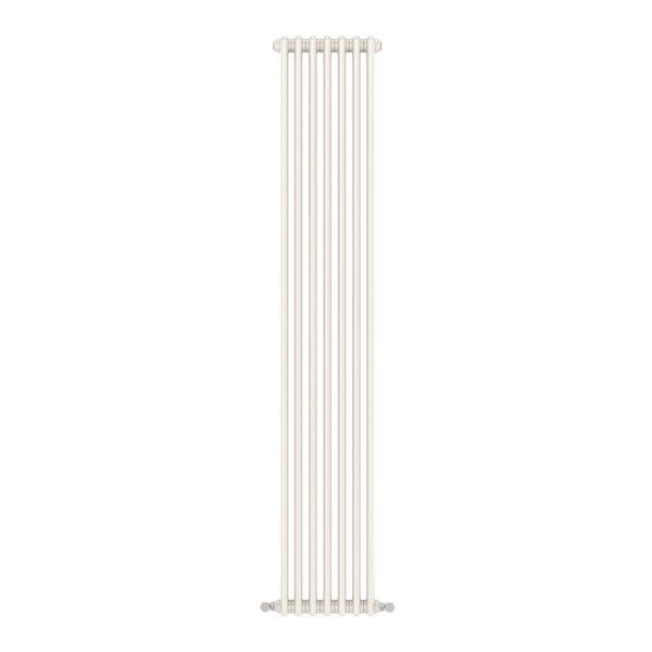Dulwich vertical white double column radiator 1800 x 335