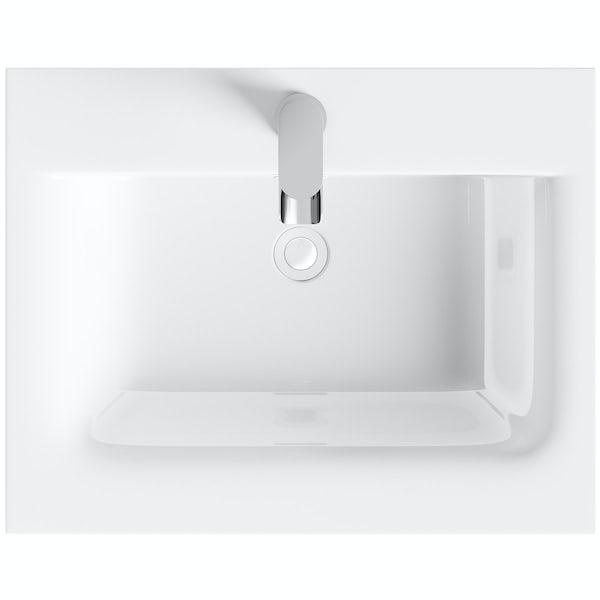 Mode Burton white wall hung vanity unit 600mm