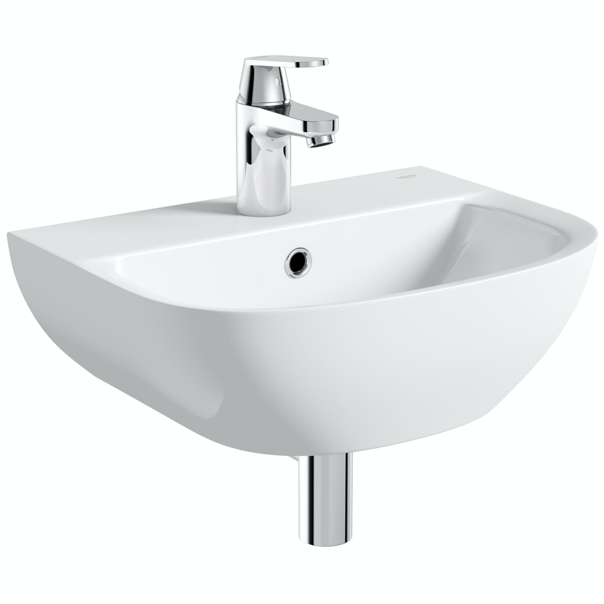 Grohe Bau 1 tap hole wall hung basin 450mm