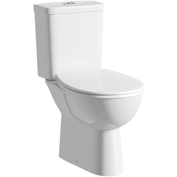 Grohe Bau close coupled toilet with soft close seat