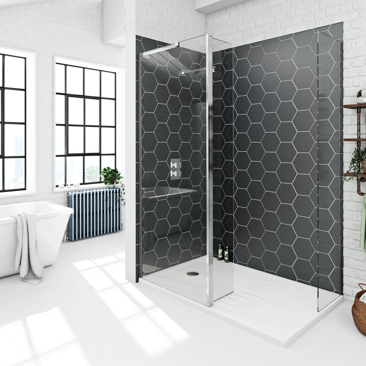 Victoria Plumb Showers >> Mode 8mm spacious walk in pack with stone tray 1400 x 900 | VictoriaPlum.com