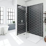 Mode 8mm spacious walk in shower enclosure with tray and hinged return panel 1400 x 900