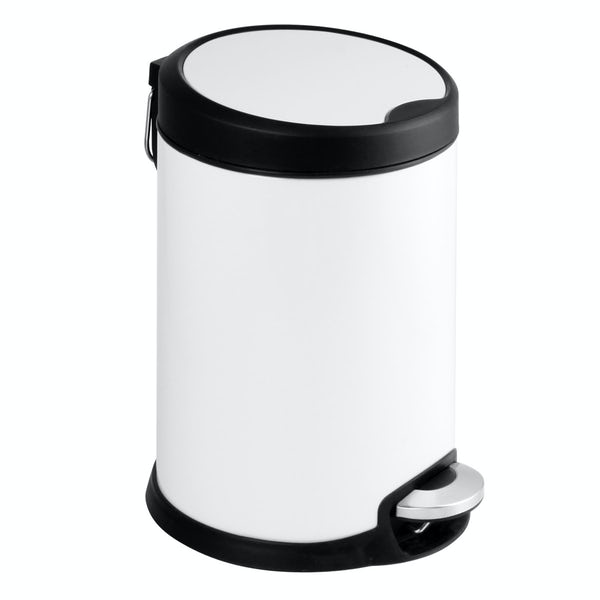 Showerdrape Aero white 5lt pedal bin