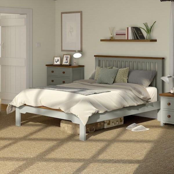 Rome Oak & Grey King Size Bed