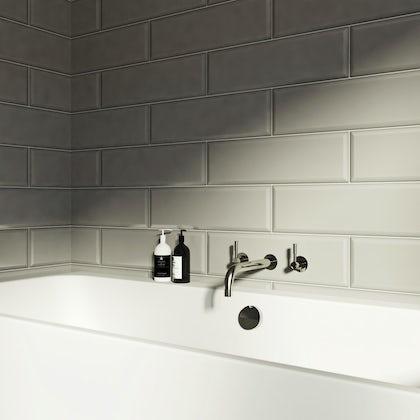 V&A Maxi Metro frieze gloss tile 148mm x 498mm