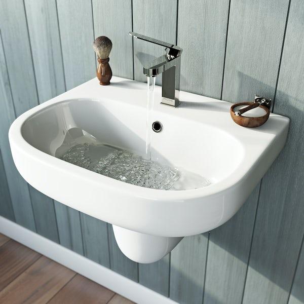 Mode Burton semi pedestal basin 550mm